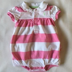Ralph Lauren Polo outfit size 9 months pink rugby